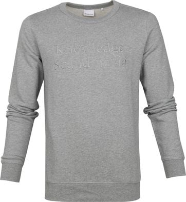KnowledgeCotton Apparel Pullover Elm Grau