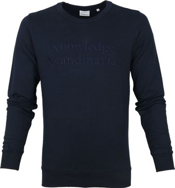 KnowledgeCotton Apparel Pullover Elm Navy