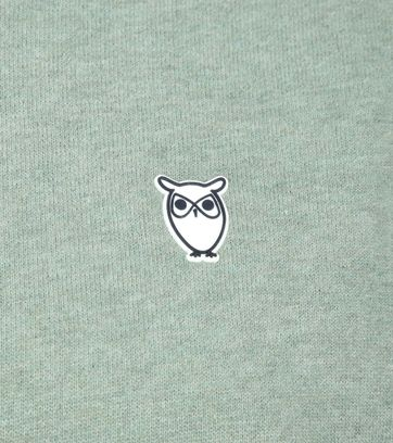 KnowledgeCotton Apparel Pullover Logo Green