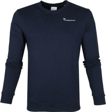 KnowledgeCotton Apparel Pullover Navy Logo
