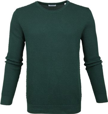 KnowledgeCotton Apparel Pullover Sailor Dark Green