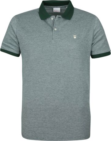 KnowledgeCotton Apparel Rowan Polo Groen