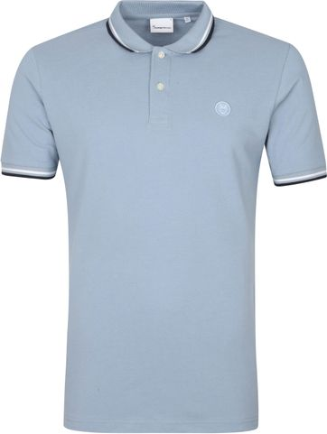 KnowledgeCotton Apparel Rowan Poloshirt Blue