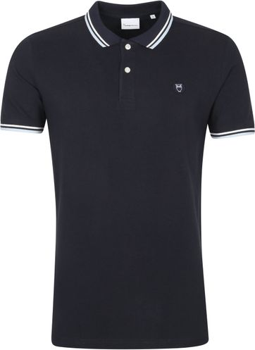 KnowledgeCotton Apparel Rowan Poloshirt Dark Blue