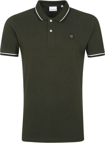 KnowledgeCotton Apparel Rowan Poloshirt Dark Green