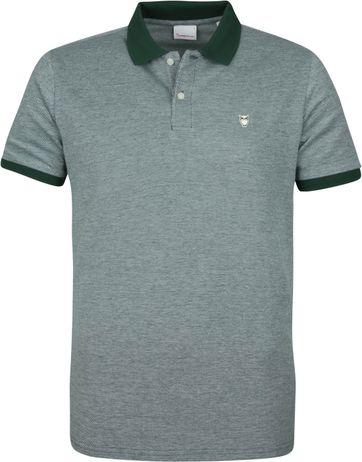 KnowledgeCotton Apparel Rowan Poloshirt Grün