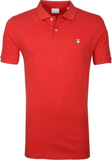 KnowledgeCotton Apparel Rowan Poloshirt Red