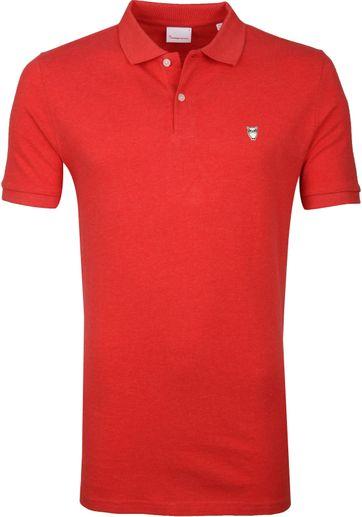 KnowledgeCotton Apparel Rowan Poloshirt Rot