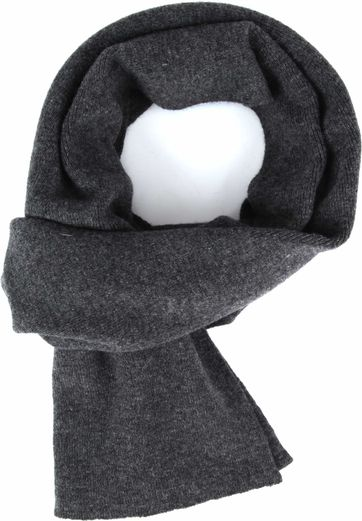 KnowledgeCotton Apparel Scarf Dark Grey