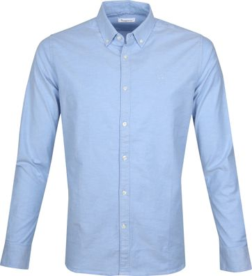 KnowledgeCotton Apparel Shirt Blue