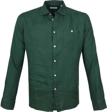 KnowledgeCotton Apparel Shirt Dark Green