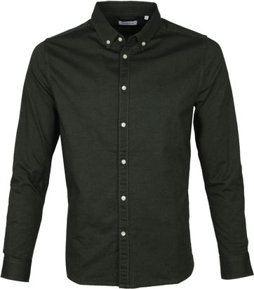 KnowledgeCotton Apparel Shirt Darkgreen