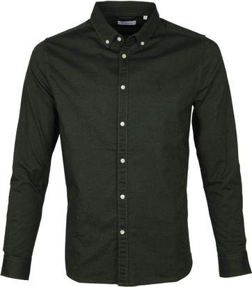 KnowledgeCotton Apparel Shirt Darkgreen