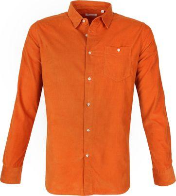 KnowledgeCotton Apparel Shirt Rust