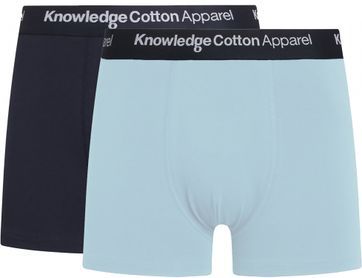 KnowledgeCotton Apparel Shorts Maple 2-Pack Hellblau