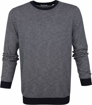 KnowledgeCotton Apparel Striped Pullover