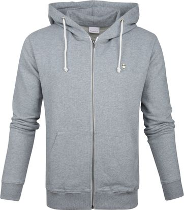 KnowledgeCotton Apparel Sweatjacke Grau