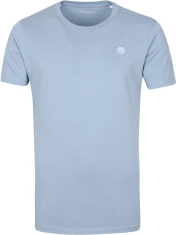 KnowledgeCotton Apparel T Shirt Alder Asley Blue