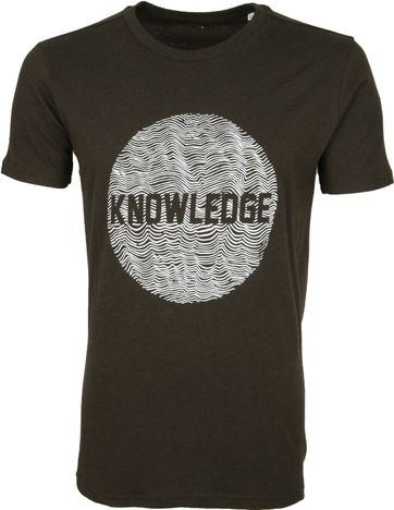 KnowledgeCotton Apparel T-shirt Alder Donkergroen