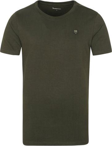 KnowledgeCotton Apparel T-shirt Alder Forrest Groen