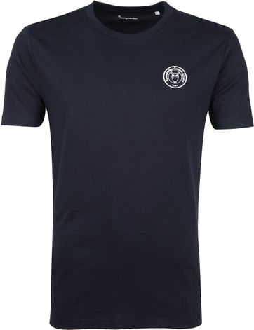KnowledgeCotton Apparel T-shirt Alder Navy