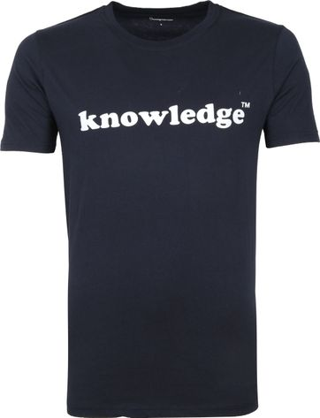 KnowledgeCotton Apparel T-shirt Navy