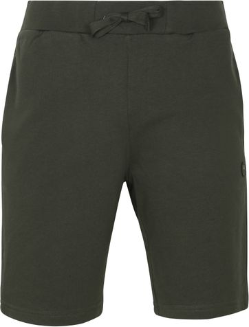 KnowledgeCotton Apparel Teak Sweat Shorts Dark Green