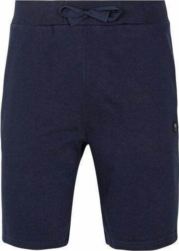 KnowledgeCotton Apparel Teak Sweat Shorts Donkerblauw