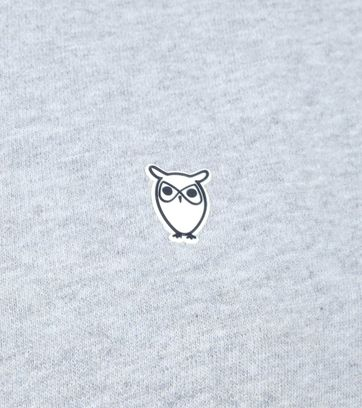 KnowledgeCotton Apparel Trui Logo Grijs