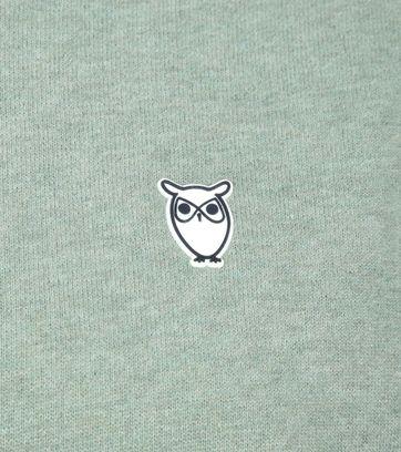 KnowledgeCotton Apparel Trui Logo Groen
