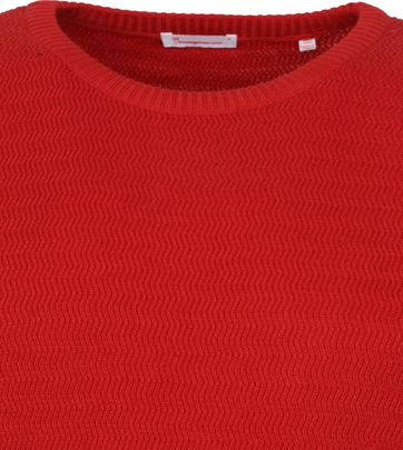KnowledgeCotton Apparel Trui Waves Rot