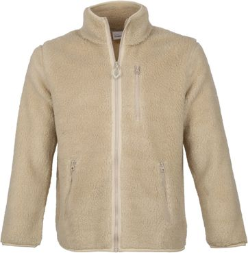 KnowledgeCotton Apparel Zip Teddy Vest Beige