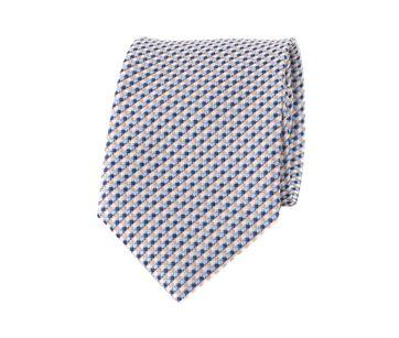 Krawatte Mini Karo Beige