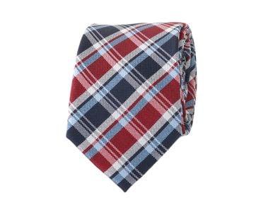 Krawatte Rot Karo