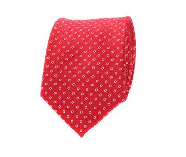 Krawatte Rot Seide Punkte