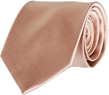 Krawatte Seide Beige Uni F54