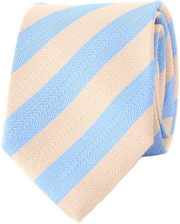Krawatte Seide Blau Beige