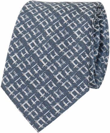 Krawatte Seide Blau Karo