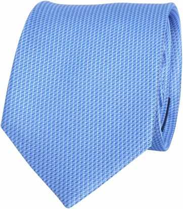 Krawatte Seide Blau Motiv
