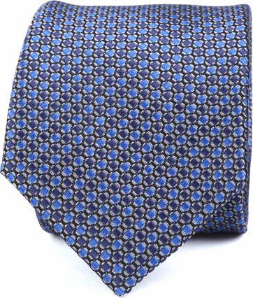 Krawatte Seide Blau Muster K82-10