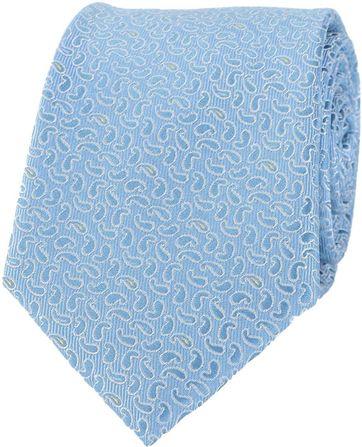Krawatte Seide Blau Paisley