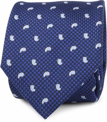 Krawatte Seide Blau Paisley K81-18