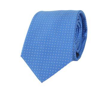 Krawatte Seide Blau Punkte