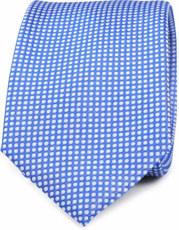 Krawatte Seide Blau Punkte K81-17