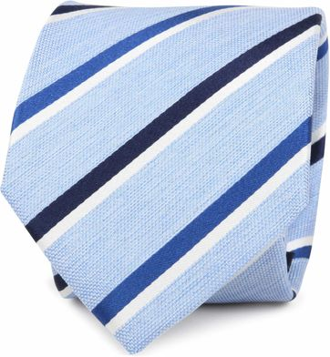 Krawatte Seide Blau Streif