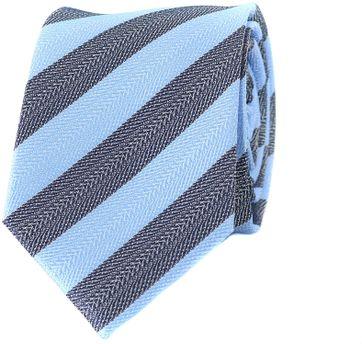 Krawatte Seide Blaue Streifen