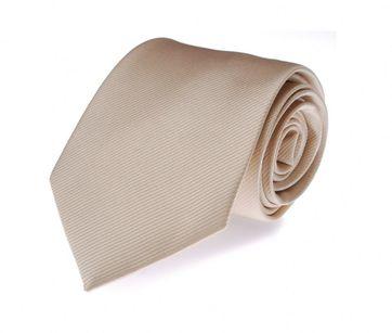 Krawatte Seide Champagner Uni F10