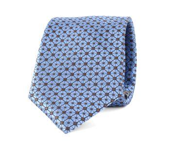 Krawatte Seide Dessin Blau 9-17