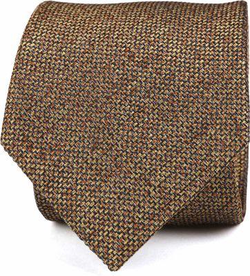 Krawatte Seide Dessin Braun K82-13