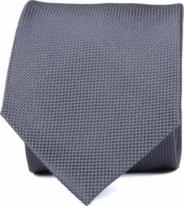 Krawatte Seide Dessin Grau